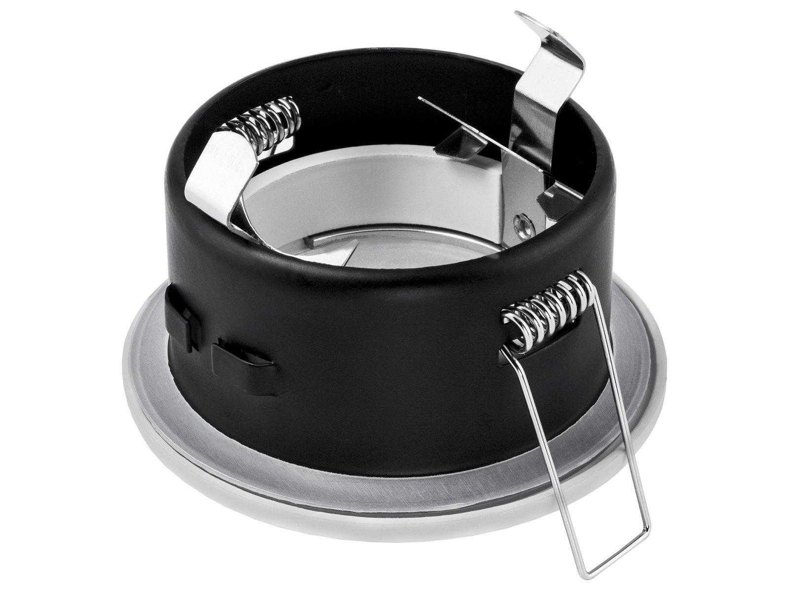 led einbaustrahler ip65 neutralwei gu10 3w 230v edelstahl optik rund starr. Black Bedroom Furniture Sets. Home Design Ideas