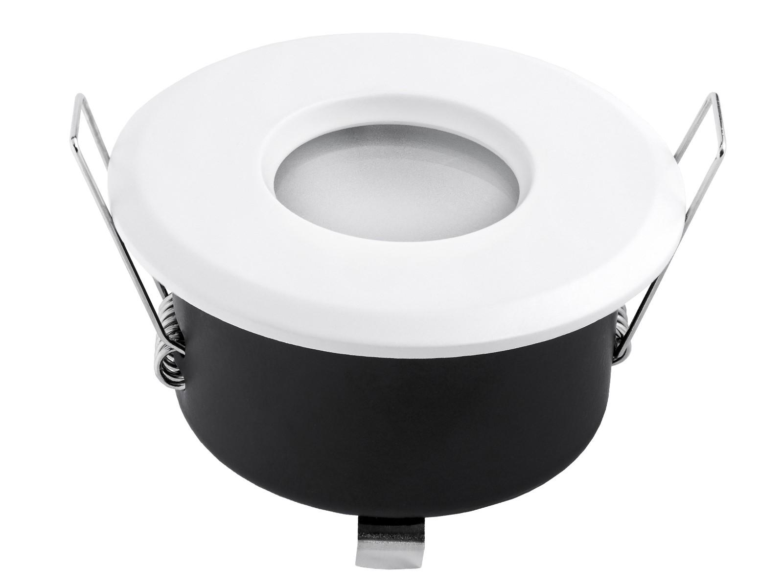 led einbaustrahler ip65 wei rund 230v f r bad k che oder au en warmwei 6w ebay. Black Bedroom Furniture Sets. Home Design Ideas